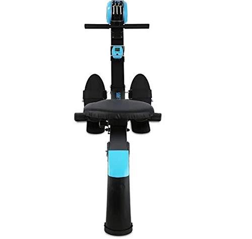 CAPITAL SPORTS Stringmaster Máquina remo - Banco Remo Plegable multifunción-  100 kg max - Monitor actividad - Entrenamiento de pie o sentado - Negro / Azul