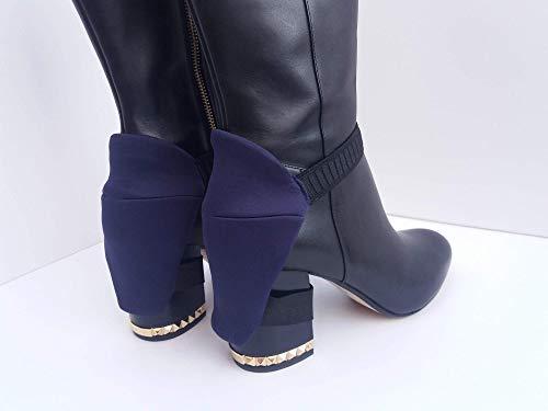Winterstiefel Fersenschutz für Frauen zum Eintreiben, für abriebfreie Stiefel, zum Eintreiben von Absätzen Kratzschutz-Schuhschoner - Perfekt für Damenfahrer - Paar blaue Fersenschutz für Stiefel