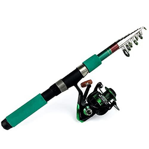 WENMENG2021 Caña de Pescar telescópica Caña de Pescar Combo cañas de Pescar telescópicas y Spinning Carrete de Pesca Juego de Pesca de Carpa Rodillo de Pesca Kit Kit de caña de Pescar