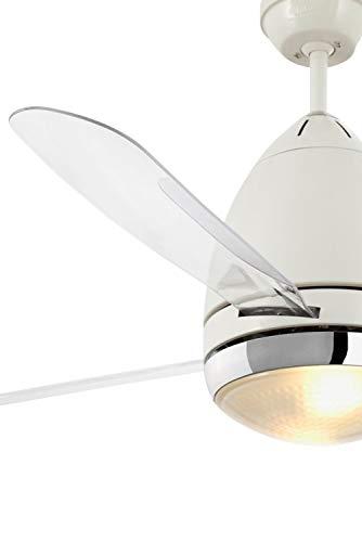 Ventilatore da soffitto a 3 pale Color bianco con luce