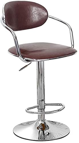 Taburete giratorio para bar, silla de oficina, silla de escritorio, silla de salón, taburete de oficina, silla giratoria de piel sintética, taburete giratorio de altura de 2 colores