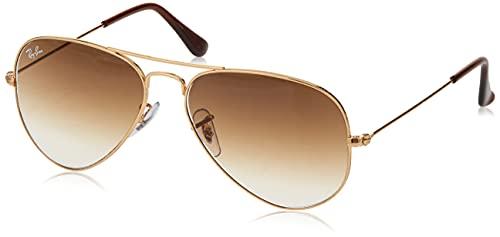 occhiali da sole oro Ray-Ban RB3025 Aviator Occhiali da Sole Unisex Adulto