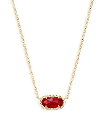 Kendra Scott Elisa Pendant Necklace in Ruby Red, 14K Gold-Plated