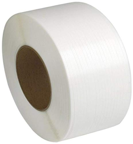 PAC Strapping 48M.27.2290 1/2' Machine Grade White Polypropylene Strapping, 9000' length