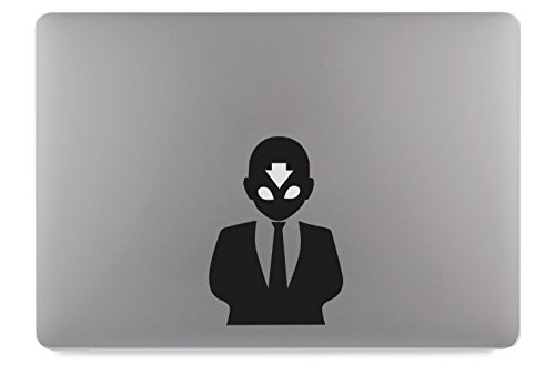 Avatar Aangzug in pak Suit Sticker Skin Decal Sticker geschikt voor Apple MacBook en alle andere laptops en notebooks, 13