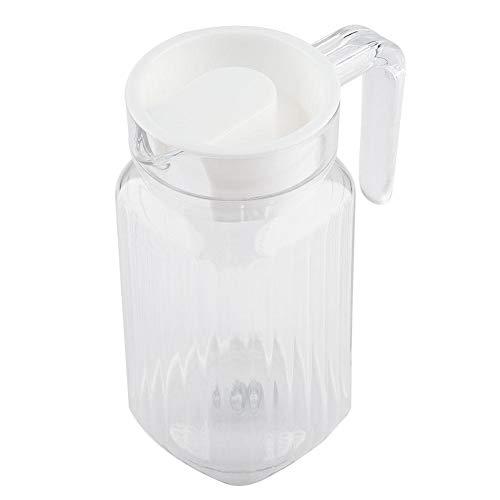 Duokon kunststof acryl transparante sap fles gestreepte wijn water ijs koud sap kruik met deksel voor bar thuis toepassing