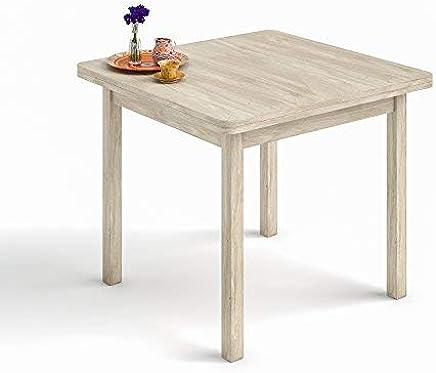 Amazon.es: mesa cocina madera extensibles 90 x 90 - Mesas ...