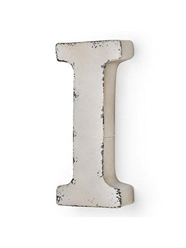 MONTEMAGGI Metal de Couleur Ivoire Antique Lettre I 14 X 5 X 30 cm