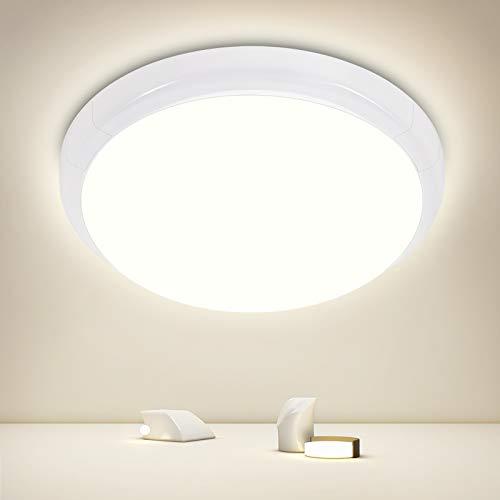 Oraymin - Lámpara de techo LED de 15 W, redonda, ultrafina, diámetro de 250 x 60 mm, 4000 K, lámpara de techo, salón, habitación de los niños, cocina, oficina o dormitorio [Clase energética A+]