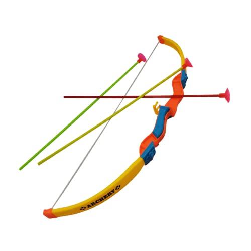 STUWU Kinder Pfeil und Bogen 39cm Sportbogen mit 3 Sicherheitspfeilen Archery