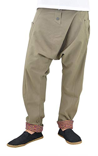 virblatt - Harem Pants for Men | 100% Cotton | Drop Crotch Pants Men Aladdin Pants...