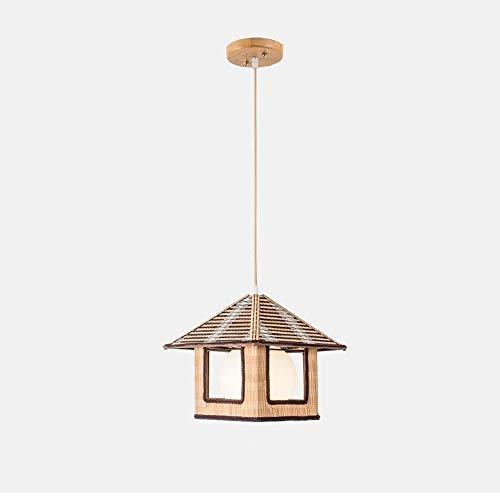 Lyuez Scheune kroonluchter instelbare energiebesparing bamboelamp Japanse kandelaar creatieve restaurant koffie licht herderart-rotan gesponnen lamp