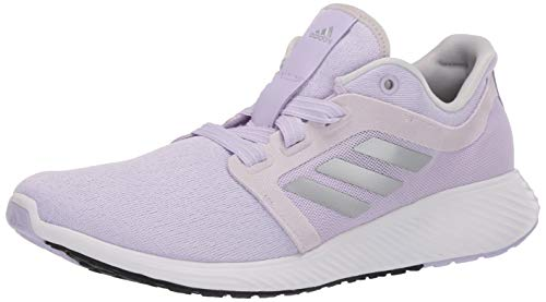 adidas Women's Edge Lux 3 Running Shoe, Purple Tint/Silver Metallic/Grey, 11 M US