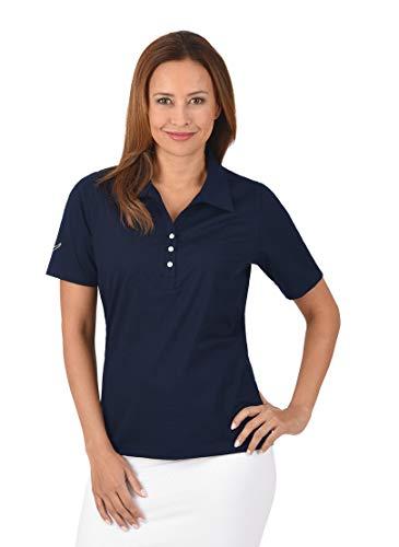 Trigema Damen 537611 Poloshirt, Blau (Navy 046), Small