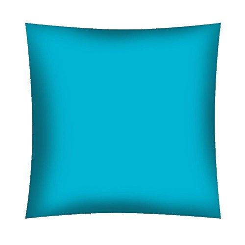 KiGATEX Dekokissen Kissenbezug 40 x 40 cm mit Reißverschluss 100% Baumwolle in vielen Faben (türkis, 40 x 40 cm)