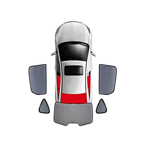 BNMH para Audi Q3 / Q5 / Q5L / Q7 Cortina Magnética Especial para Ventana Parasoles De Malla Persiana Totalmente Cubierta 2016-2020 (Color : Rear 5 Windows, Size : 2017)