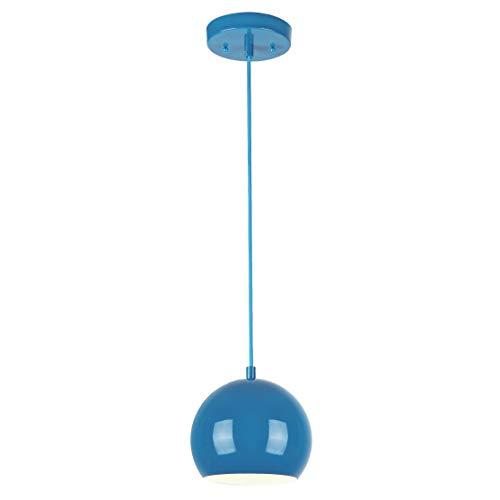 Westinghouse Lampada a Sospensione E27, Blu Lucido, acciaio
