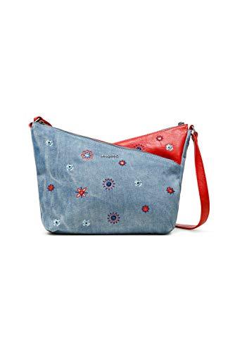 Desigual Fabric Across Body Bag, Handbag Femme, Rouge,...