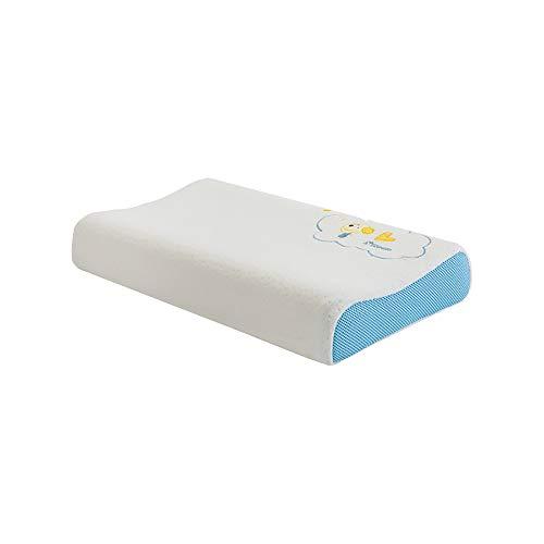 DHR- almohadas soporte para cuello el cuello Almohada de memoria - Almohada para niños de látex 3-6 años de edad Kindergarten 10 años de edad Alumnos Hombre y mujer ( Color : A , Talla : 62X32X9/6CM )