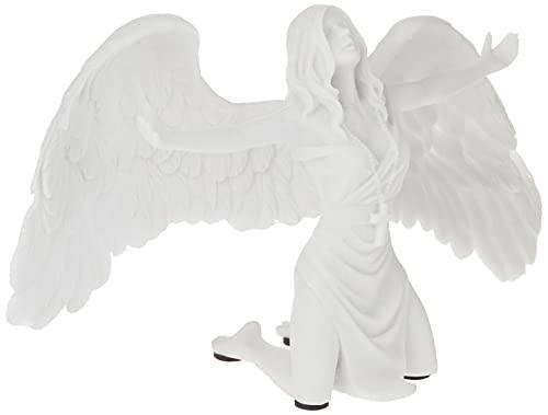 Design Toscano PD2704 Statua di Angelo in Marmo Sintetico Preghiera per la Pace, off Bianco,...