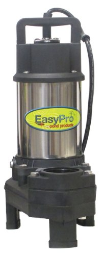 Easy Pro TH250 4100 GPH Pond Pump | Stainless Steel Submersible Pump for Ponds, Pondless Waterfalls, and Skimmer Filters