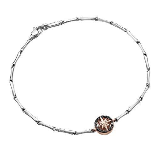 Chimento Gioielli Bracciale Uomo Oro 18 kt e Diamanti Neri ct. 0.10 - Bamboo Shine