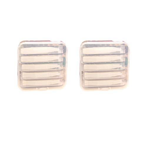 Artibetter Tragbare Kontaktlinsen Inserter Entferner Stick Werkzeugkoffer Set Pinzette Spitze Kunststoff Pinzette Halter Stick Werkzeug Weiß