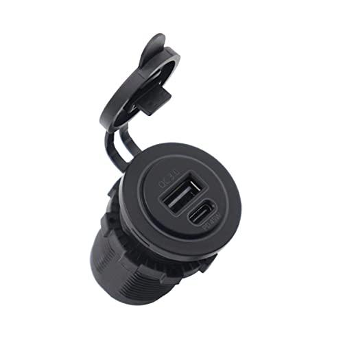 AnXiongStore Enchufe de Cargador USB de Carga rápida 3,0 PD Salida USB a Prueba de Agua Qc 3,0 Enchufe de Cargador Tipo C Interfaz Kit de Bricolaje para Coche