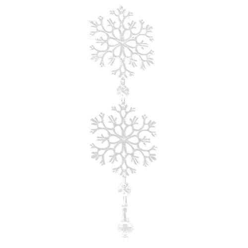Kristallen kettingen DIY sneeuwvlok glas hangen streng voor ramen auto decoratie 10 stuks 1#