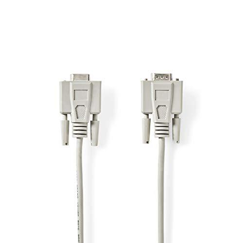 Seriële Kabel D-Sub 9-Pins Male - D-Sub 9-Pins Female 0,5 m Ivoor