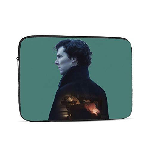 She-rlock Holmes Waterproof Computer Bag Laptop Case Laptop Tablet Tote Travel Briefcase 10 inch Black