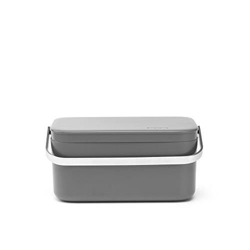 Brabantia - 117541 - Bac à déchets portable, Gris foncé