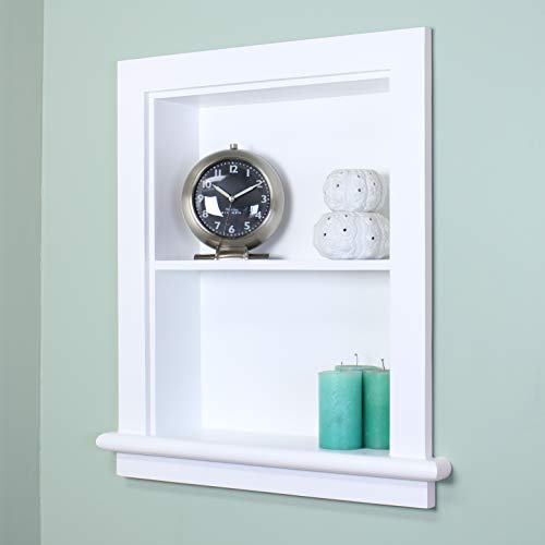 14x18 Recessed Aiden Wall Niche by Fox Hollow Furnishings (White w/Plain Back)