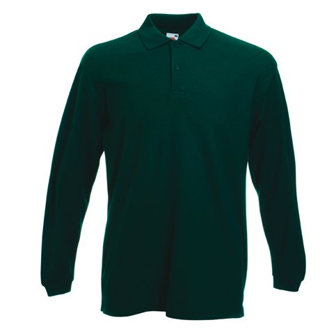 Fruit of the Loom SS037M, T-Shirt Polo Uomo, Verde (Forest Green), Large
