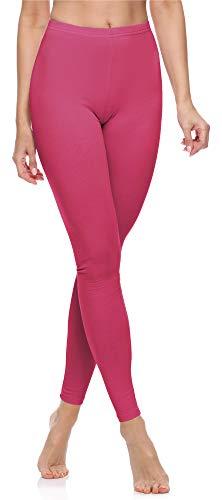 Merry Style Leggins Largos Mallas Deportivas Mujer MS10-198 (Rosa, XXL)