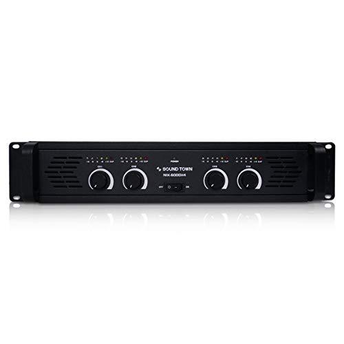 Sound Town 4-Channel 4 X 750W at 4-ohm, 6000W Peak Output Professional Power Amplifier (NIX-6000X4)