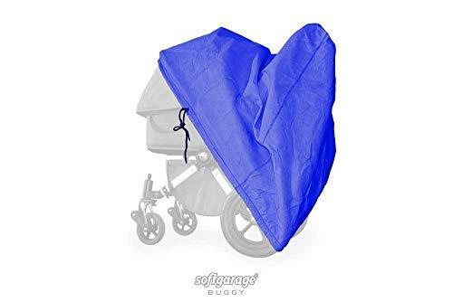 softgarage buggy softcush blauwe afdekking voor kinderwagen Nuna Mixx regenbescherming regenhoes