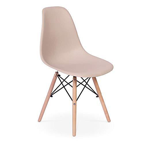 Cadeira Charles Eames Eiffel Dkr Wood - Design - Nude