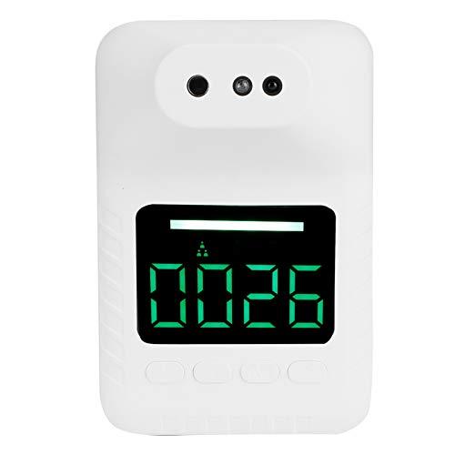 ZHenMei Termómetro automático de pared con pantalla digital, termómetro de medición de temperatura fija, medición de temperatura infrarroja con alarma de voz