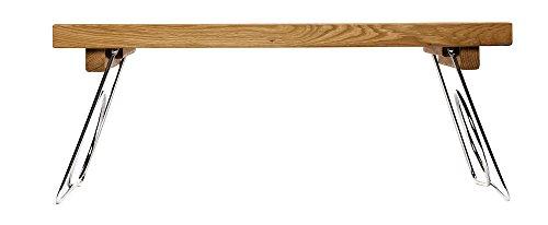 Sagaform Oval Oak Bett-Tablett mit einklappbaren Beinen, Holz, Braun, 50 x 30 x 24.5 cm