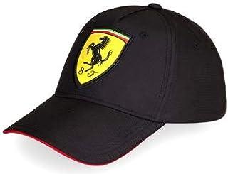 e0360d059eb0ef Official 2018 Scuderia Ferrari Fanwear Black Carbon Baseball Cap Adult One  Size