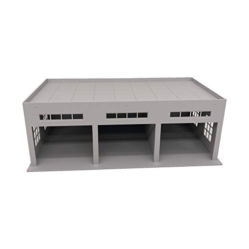 Outland Models Miniatures 3-Stall Large Garage for Trucks/Cars 1:64