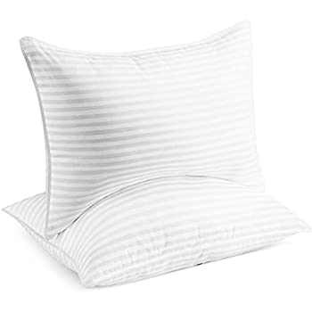 Beckham Hotel Collection Bed Pillows for Sleeping - Queen Size Set of 2 - Cooling Luxury Gel Pillow for Back Stomach or Side Sleepers
