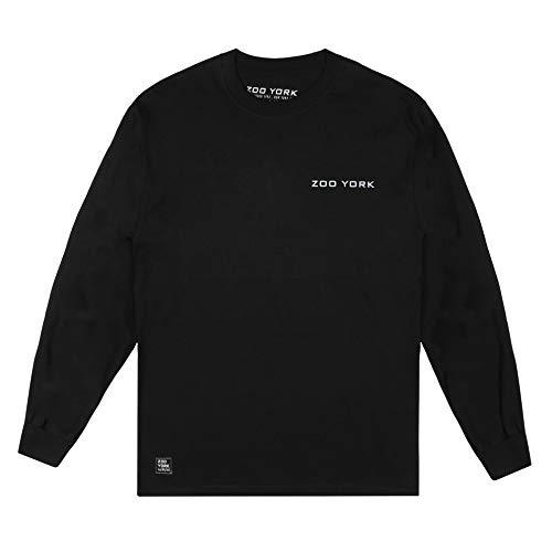 Zoo York Globe Flag Long Sleeve T-Shirt, Nero, XL Uomo