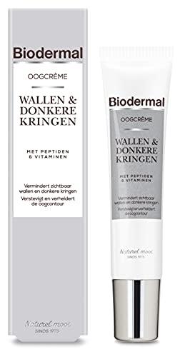 Biodermal Oogcrème Wallen & Donkere Kringen - met Peptiden - 15ml