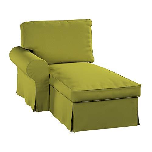 Dekoria Ektorp Bezug für Récamiere Links Sofahusse passend für IKEA Modell Ektorp Limone