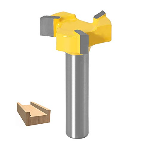 8mm Gambo Stelo a T Fresa Legno Fresa Piallatrice Utensile, CNC Spoilboard Surfacing Bit Router Bit, fresa per piallatrice, strumento per la lavorazione del legno