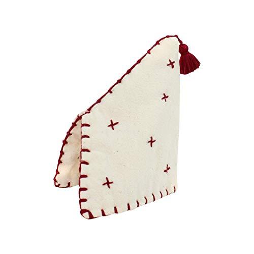 Teiera marocchina del 100% cotone con nappa bordeaux fatta a mano cucita a mano ricamato progettato da essenza del Marocco
