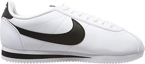 Nike Womens Classic Cortez Leather White/Black/White Casual Shoe 9.5 Women US