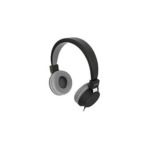 Campus BE Color Stereo-Kopfhörer mit Einem Klinkenstecker von 3,5 mm, schwarz/grau